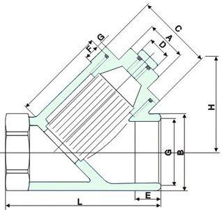 npt螺纹,pt螺纹)的连接方式的过滤器,是输送介质管道上不可缺少的一种