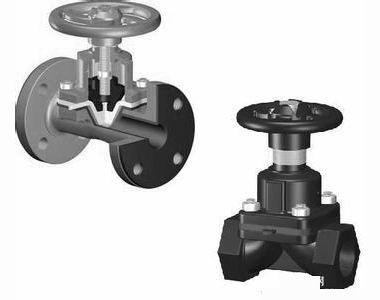 美国威盾vton进口手动隔膜阀直流式隔膜阀直通式隔膜